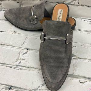 Steve Madden suede loafer backless flats